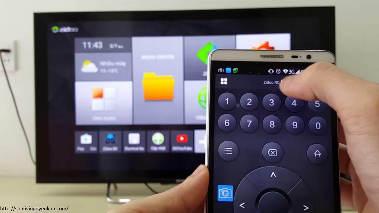 Hướng dẫn dùng điện thoại làm remote tivi